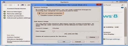 Cara Mengaktifkan Dan Mematikan System Restore Windows 8 Dengan Cara yang Efektif