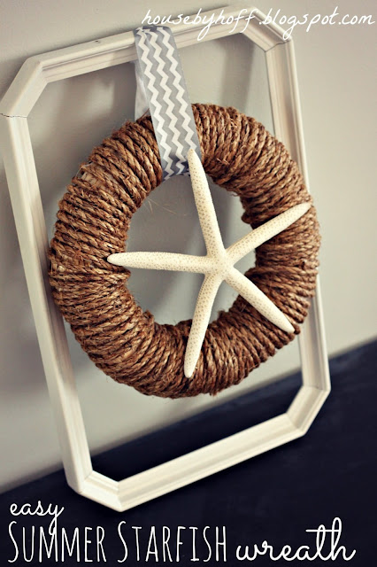 Starfish Wreath (10 Summer Seashell Decor Ideas)   #decor #decorating #seashells #beach #summer #sea
