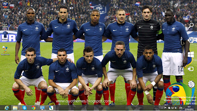 France National Football Team 2014 Theme For Windows 7 And 8