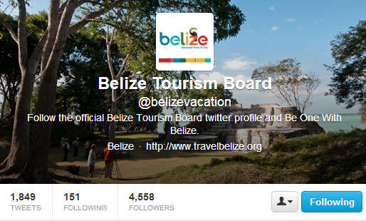 Belize Tourism Board Twitter