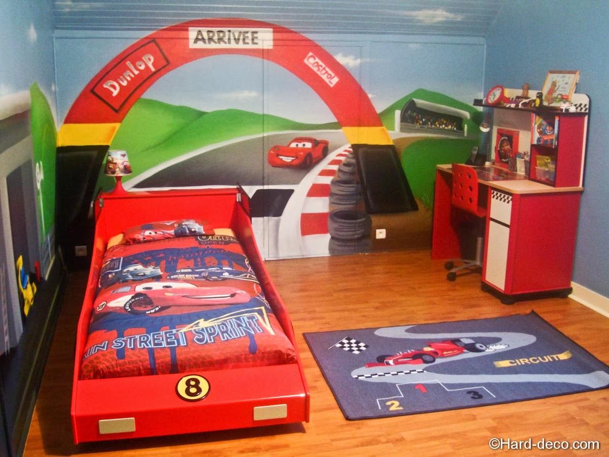 Cuartos tem ticos para ni os varones ideas para decorar - Dormitorios de cars ...