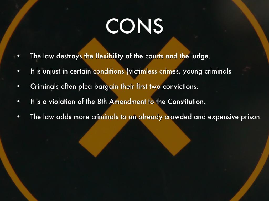 Three-Strikes Laws Essay