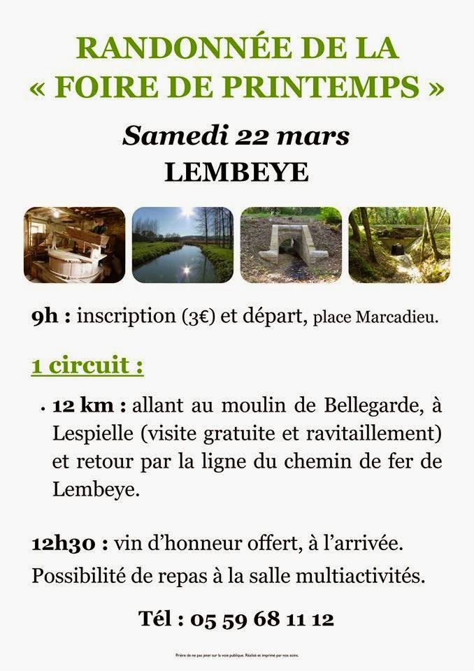 randonnée de la Foire de printemps 2014 à Lembeye