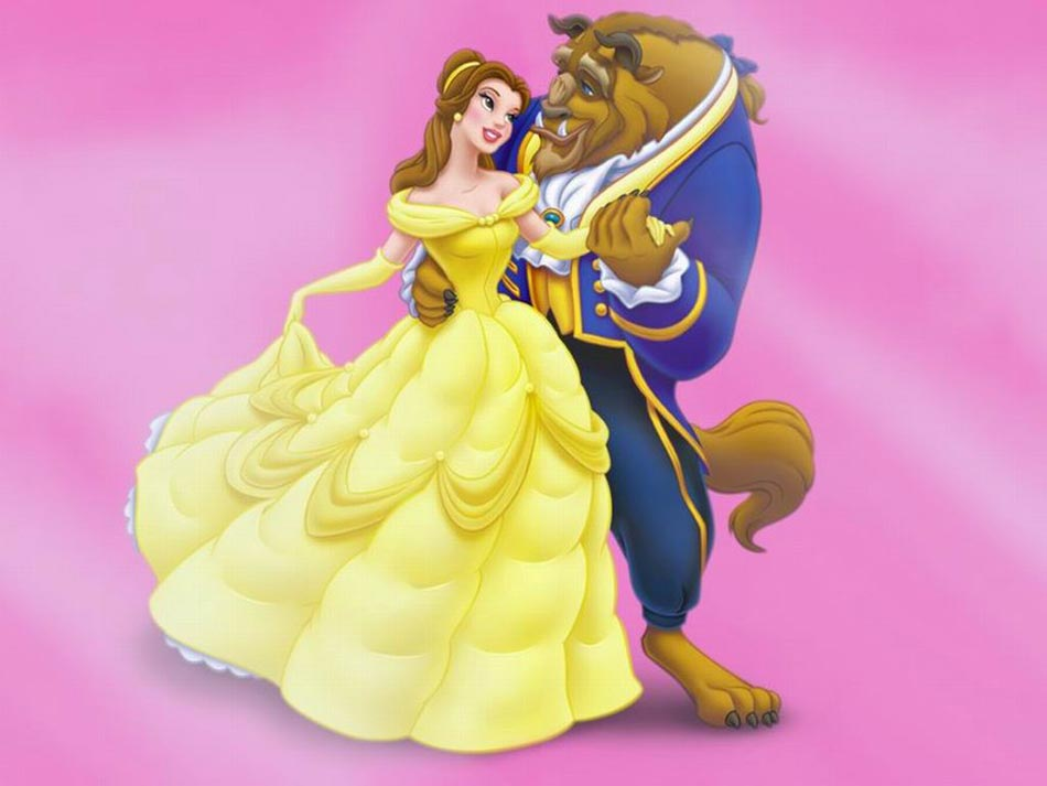Imagenes de dibujos animados La Bella y la Bestia