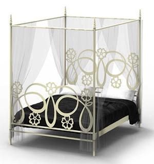 Cama dosel forja, cama alta, cama pricesa
