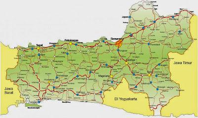 Peta Jalan Utama di Jawa Tengah
