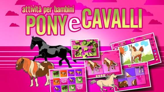 Game Attività Per Bambini Pony E Cavalli Giochi Di Puzzle Da