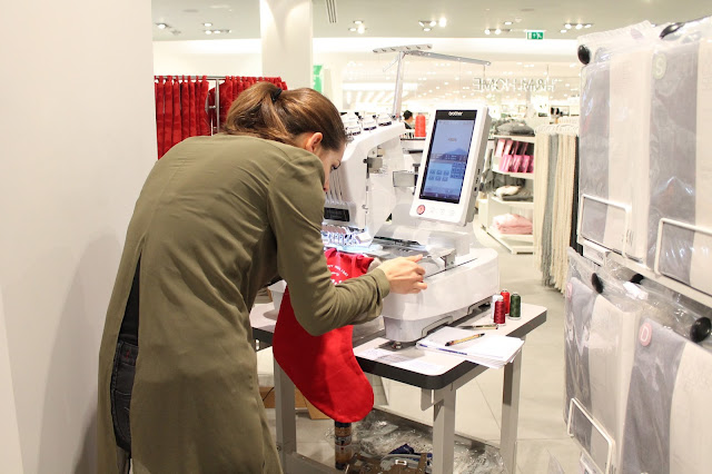 free embroidery service at H&M cardiff launch event