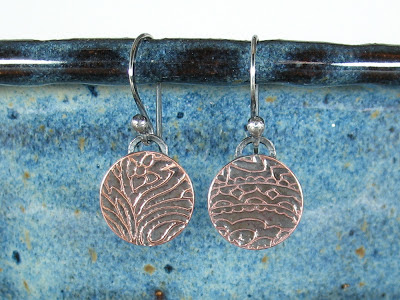 November Earrings Giveaway Etched Copper