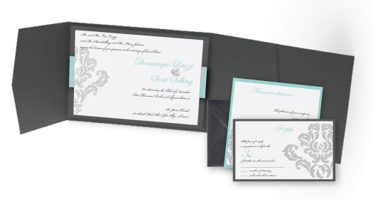tiffany blue and green wedding intives