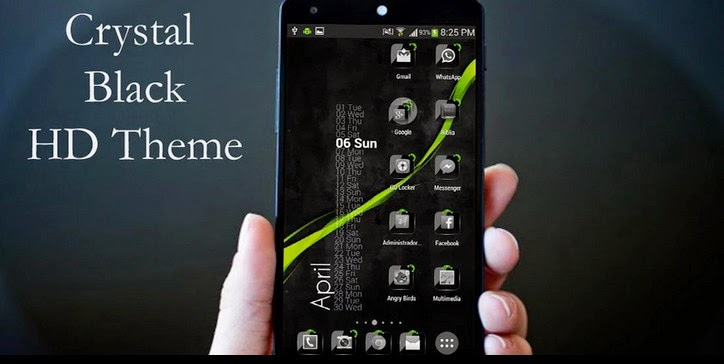 Theme Crystal Black Flat HD 12