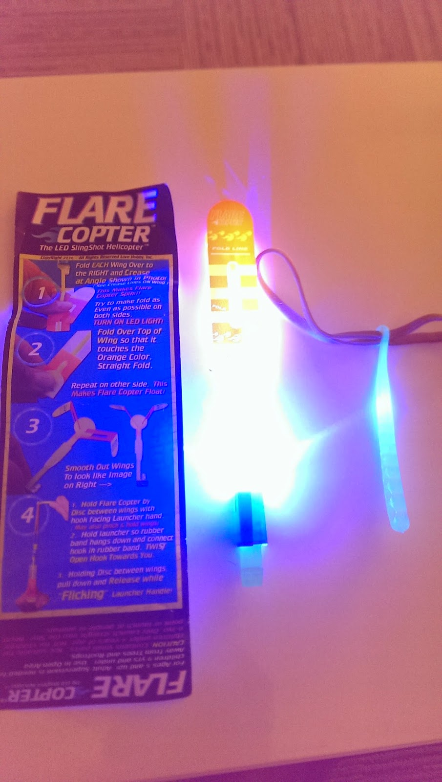 Flare Copter Led SlingShot Helicopter Lit Up