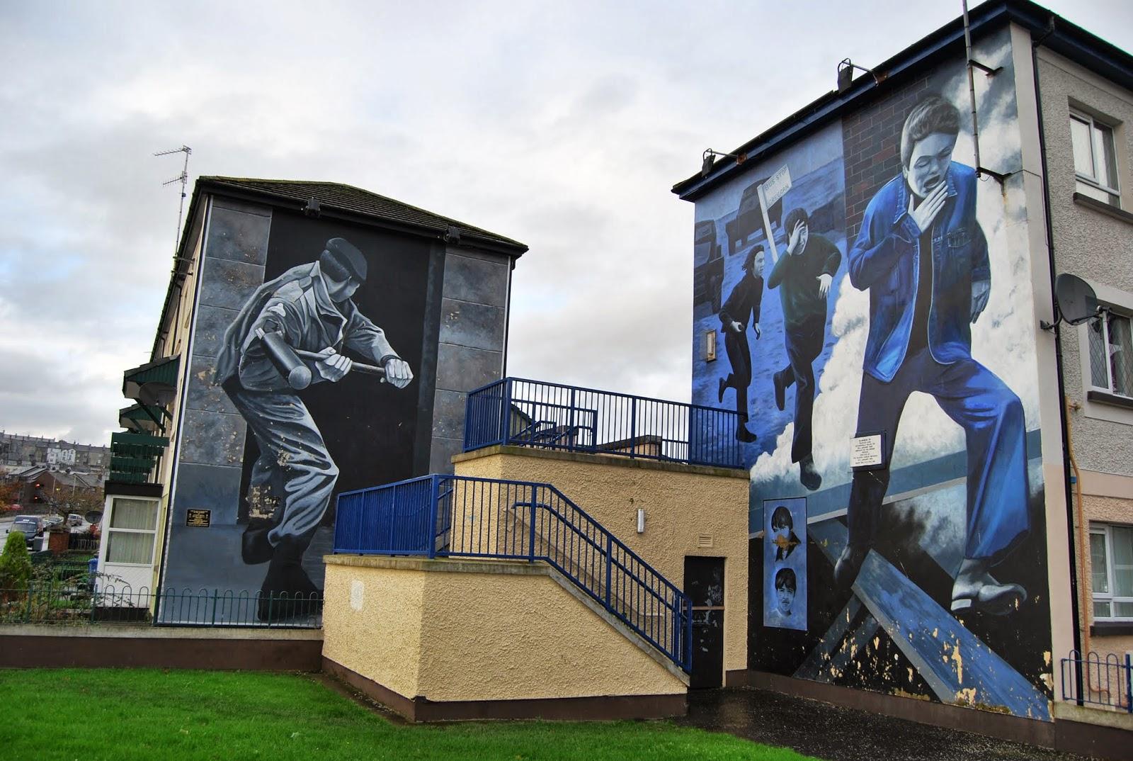 murales políticos de Derry