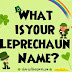What Is Your Leprechaun Name?