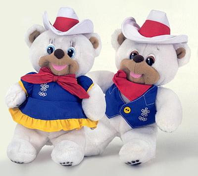 Hidy and Howdy mascot 1988 Winter Olympics in Calgary Alberta Canada