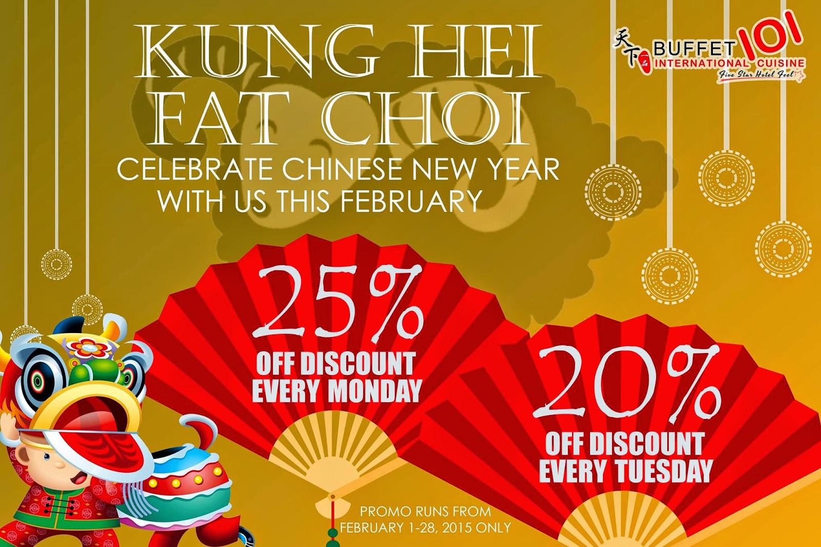Buffet 101 Chinese New Year Promo