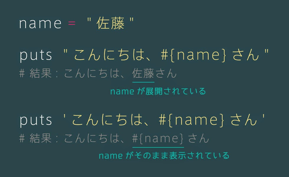 Ruby 変数