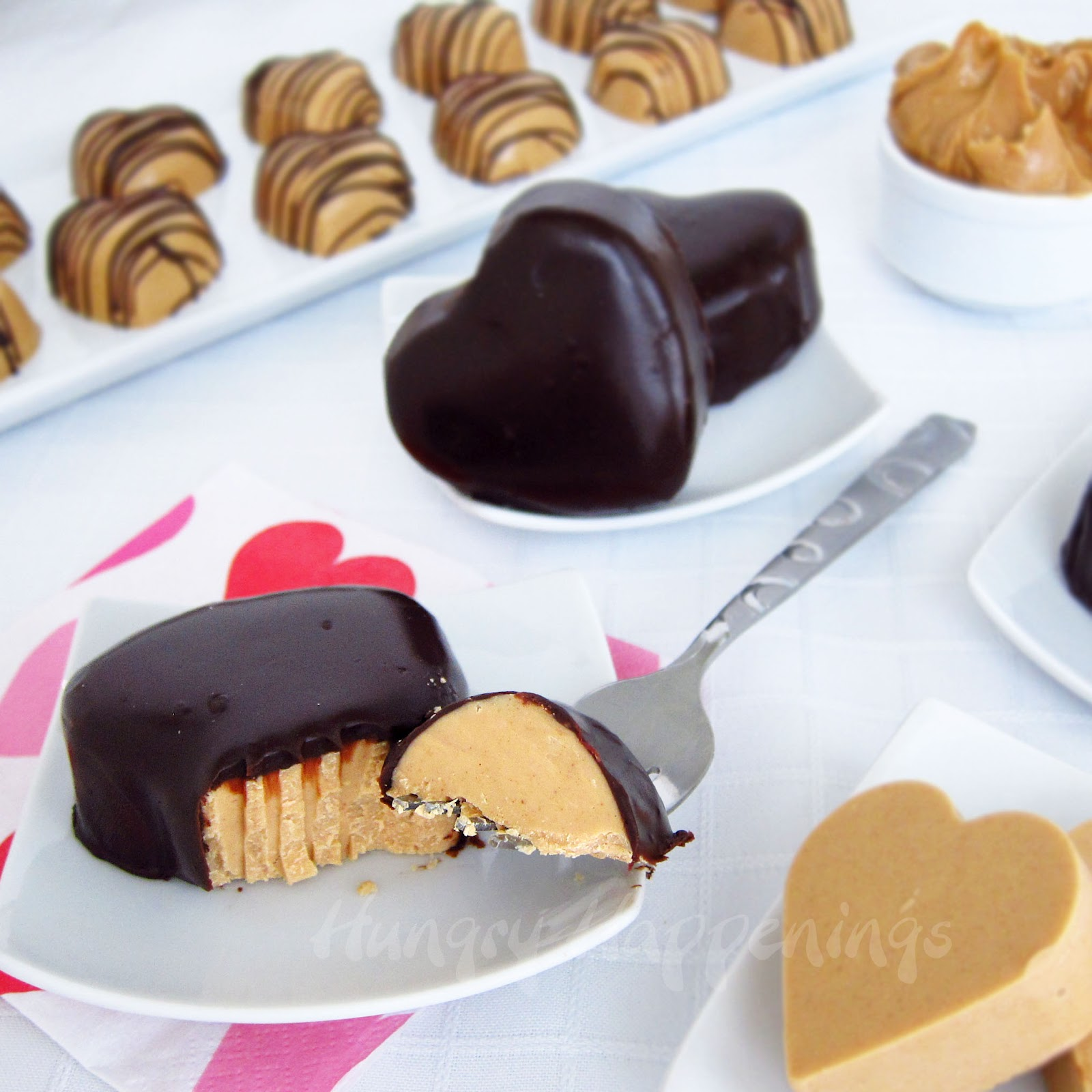 Fudgy Peanut Butter And Chocolate Hearts Valentine S Day Desserts