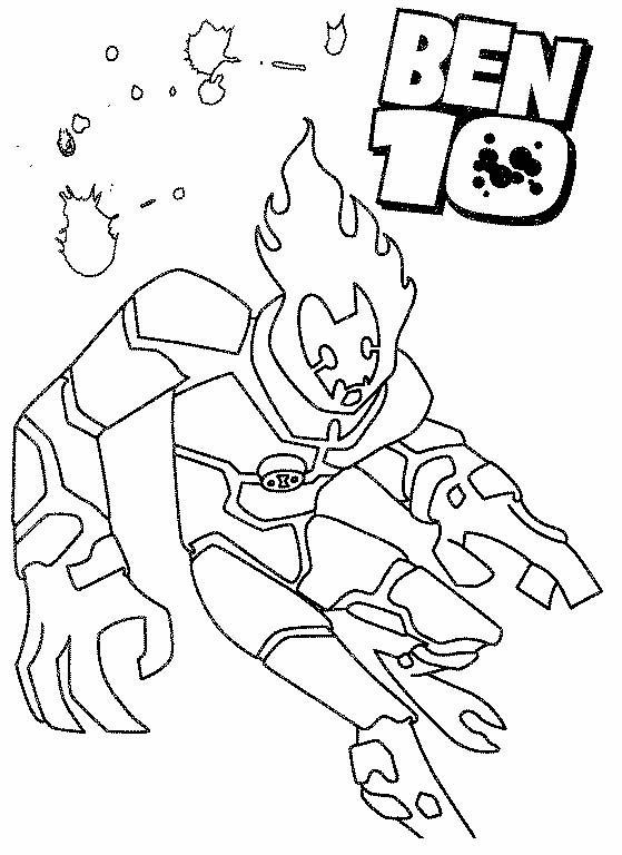 disegni da colorare ben ten ultimate alien