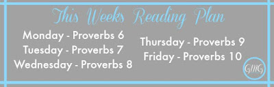 Proverbs Reading Plan