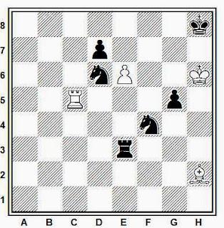 Estudio artístico de ajedrez compuesto por Leonid I. Kubbel (Schachmaty, 1923)