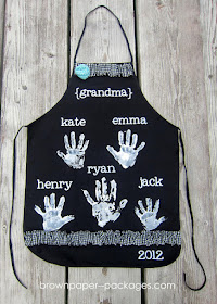 Handprint Apron Keepsake for Grandma