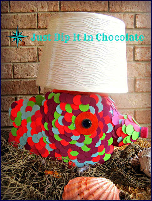 DIY Tide Pods Fish Lamp, don't throw your container away just yet, transform it into a whimsical lamp for just a few bucks and your imagination. Great Kids Project with a bit of mom's help!