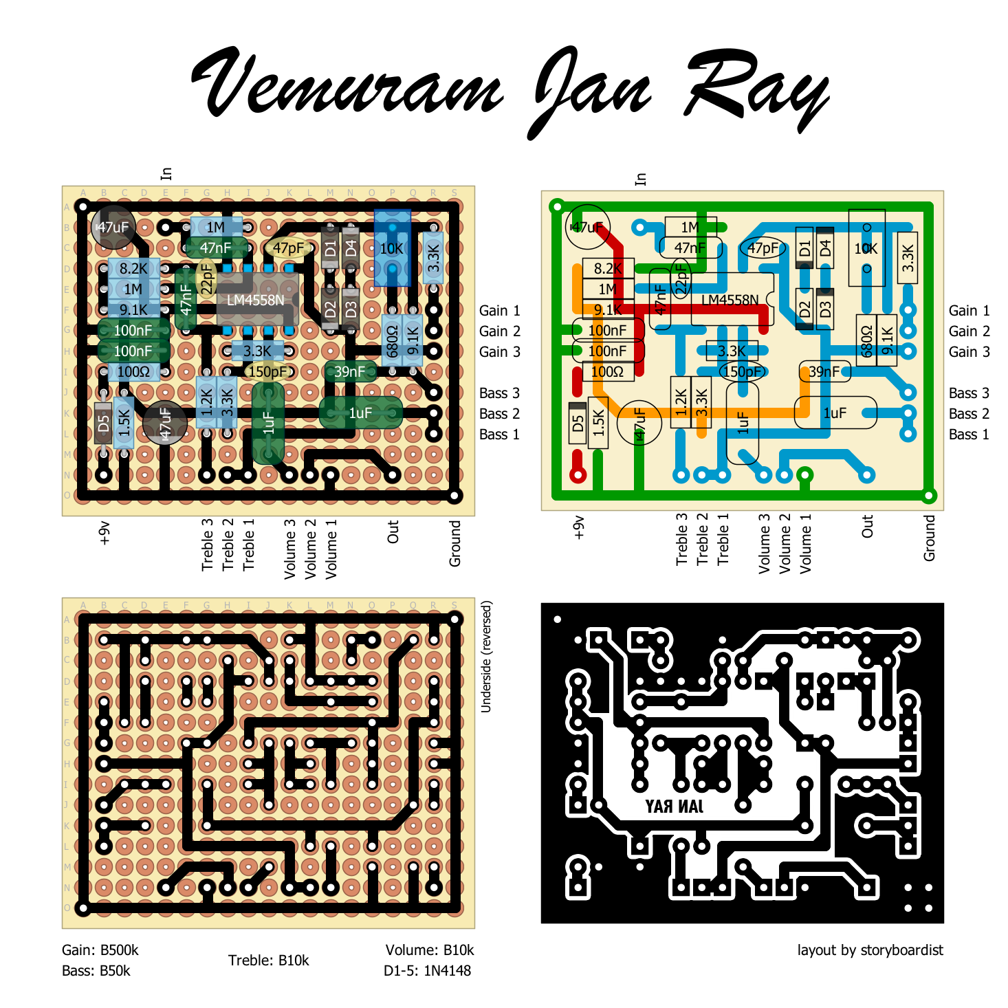 Perf And Pcb Effects Layouts  Vemuram Jan Ray