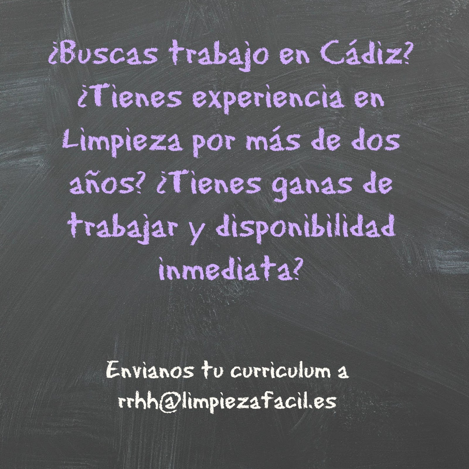 Oferta de trabajo - Limpieza en Cádiz