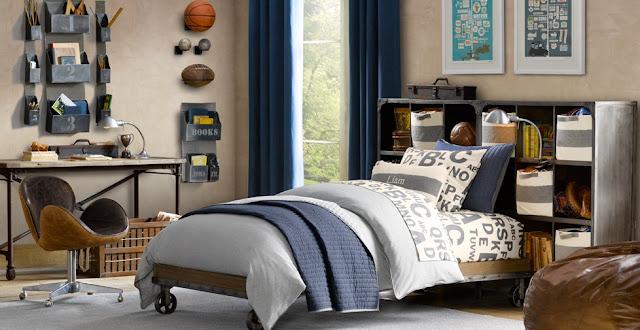 Boiserie c camere da letto under 16 - Camera industrial chic ...