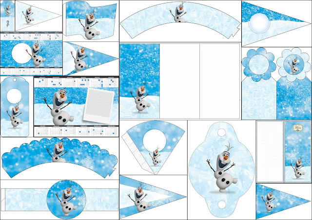 Olaf: Free Party Printables.