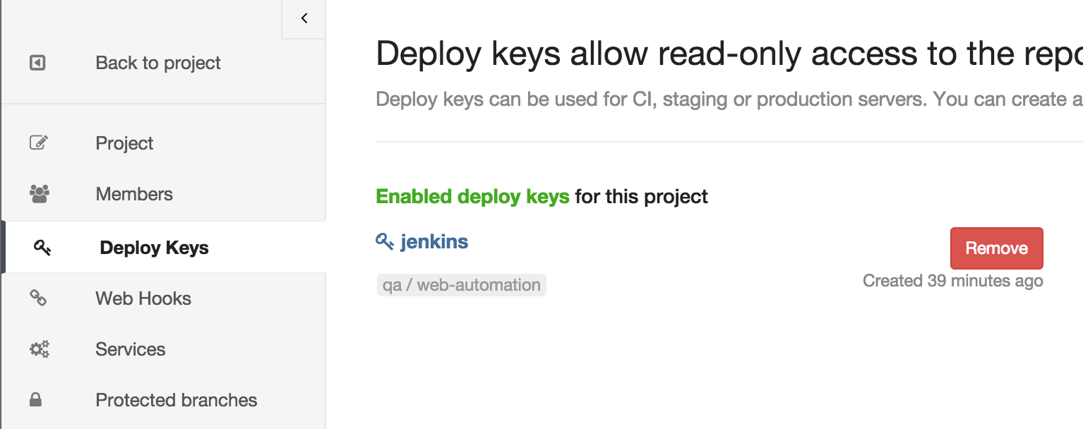 gitlab how to use deploy key in command