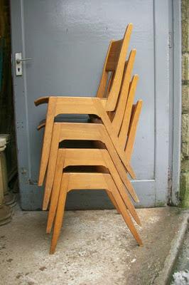 Utilitarian plywood 1950's Chair