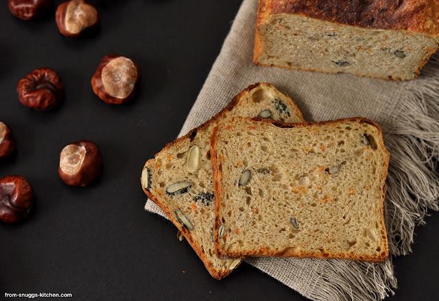 Toastbrot mit Kürbis und Kürbiskernen