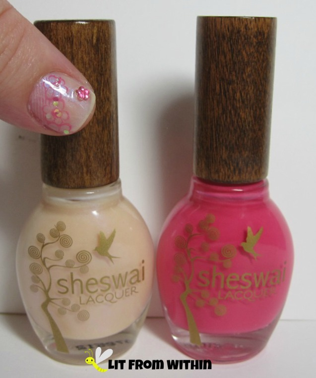 Bottle shot:  Sheswai Lacquer So Pretty and Babe