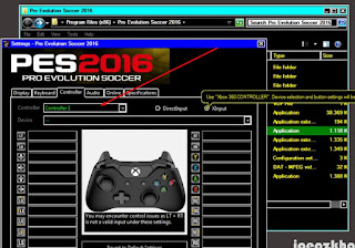 Cara Setting Stick Controller Pada Game PES 2016 PC Yang Tidak Terbaca