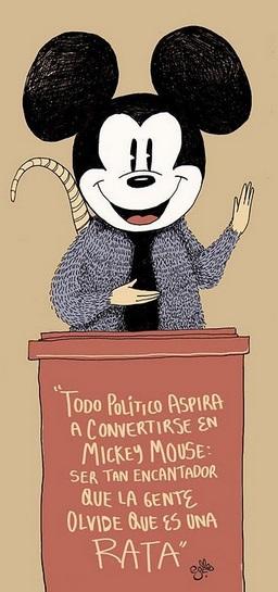 politicos aspiran a mickey mouse