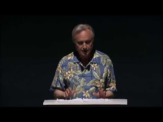 Dawkins in loud shirt