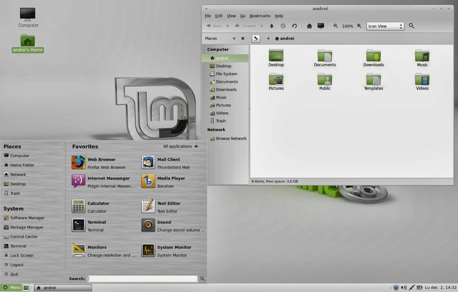 今回は最新版GNOME 3に準拠したCinnamonの方ではなく、GNOME 2に準拠しより安定性の高そうなMATEというwindow  managerのversionを選択した。
