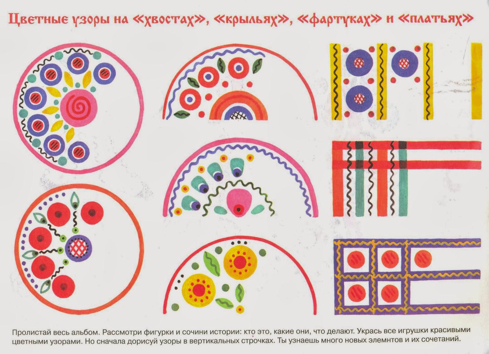 Роспись дымковской игрушки детей