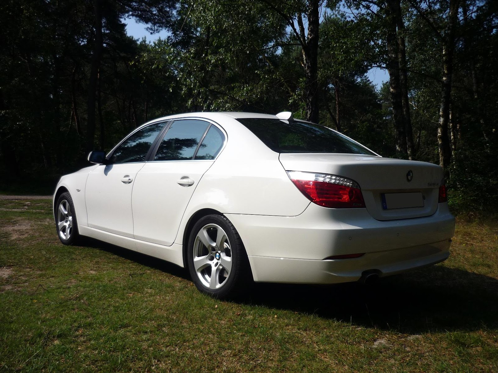 Both The 5 Series Are Alpine White, While The E60 Is A 2009 Model, The F10  Is A 2011 Model.