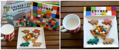 manualitat infantil fem galetes L'Elmer