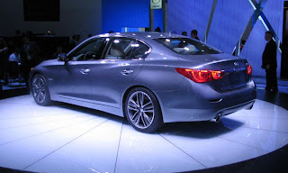 Infiniti Q50 hybrid sedan at the Detroit auto show