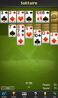 Screenshots of the Solitaire: Pharaoh for Android tablet, phone.