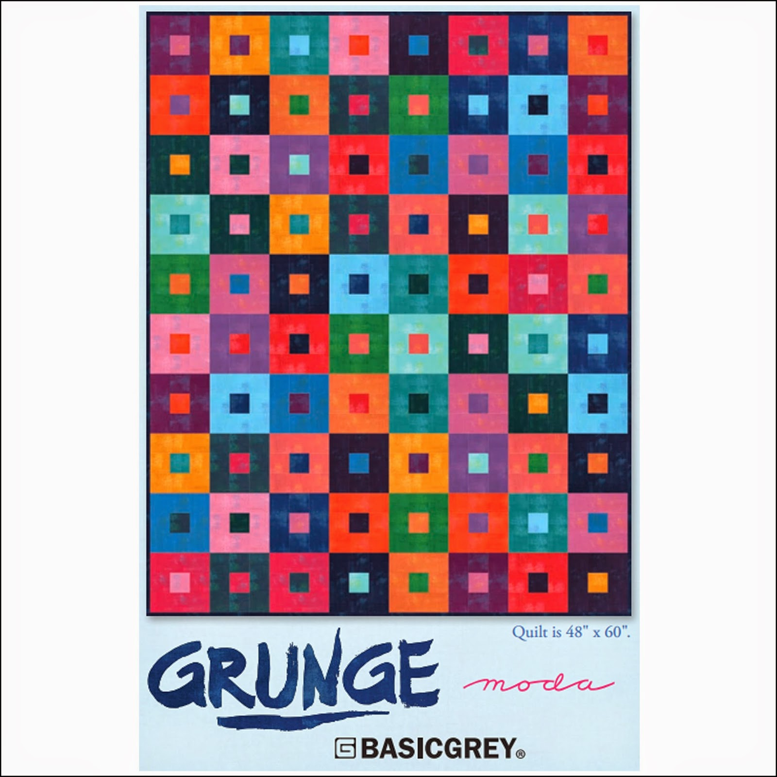 Moda GRUNGE Free Quilt Pattern using Moda GRUNGE Fabric by Basic Grey