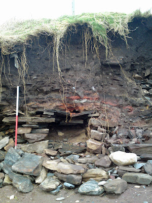 Scottish storms expose iron age skeleton