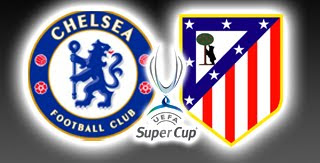 Chelsea vs Atletico Madrid, Supercopa de Europa 2012