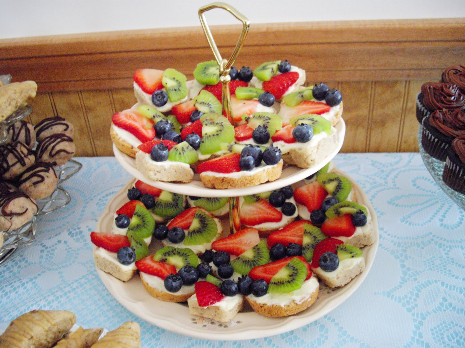mexican wedding fruit pizza and a bridal shower
