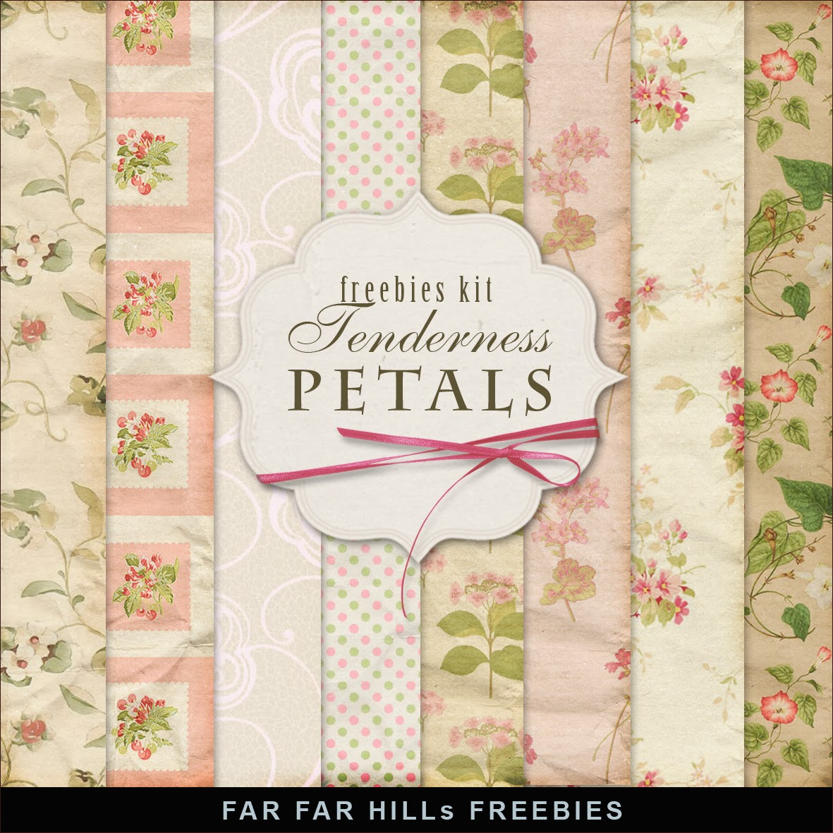 New Freebies Kit of Papers - Tenderness Petals