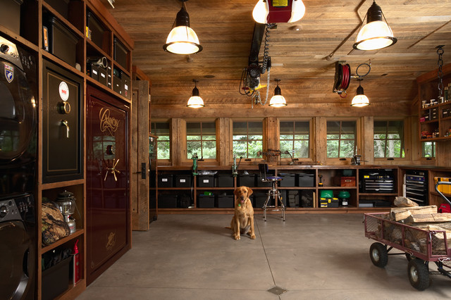 Cool industrial garage and shed Design Used Rustic Garage Shelves Furniture with Wooden Material for Home Inspiration